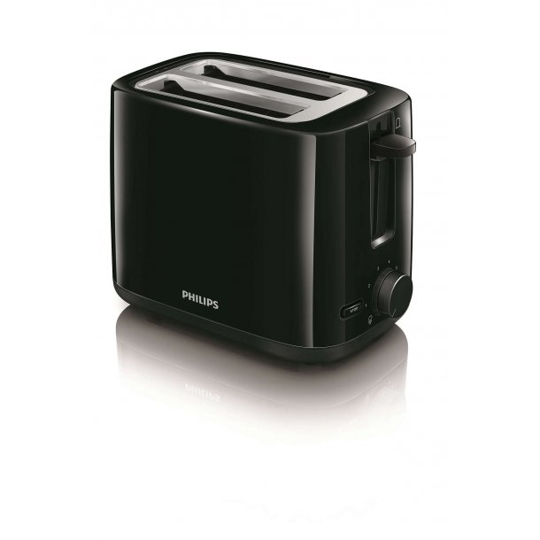 Philips Brødrister Daily HD2595/95 Sort